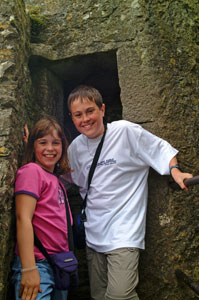 Blarney-Castle-Kids-in-Tower