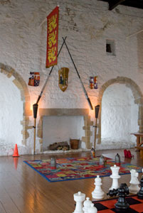 Carrickfergus-Castle-fireplace-chess