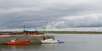 Kinvara Harbor near Dunguaire Castle