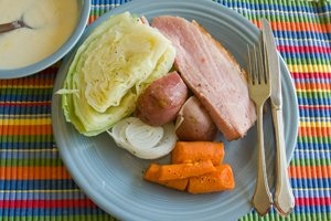 baked-ham-and-boiled-cabbage-dinner